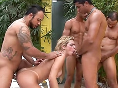 Latina shemale gangbang with facials