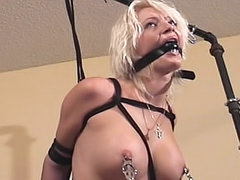 Tit pain in BDSM video
