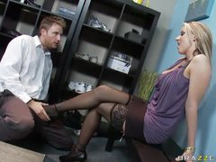 Perfect stockings girl hardcore sex