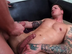 Ass fucked by gay top with abs