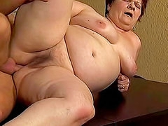 Fat mature fucked in the butt