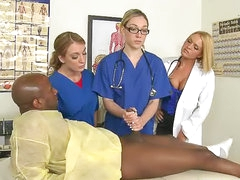 CFNM group sex with doctors