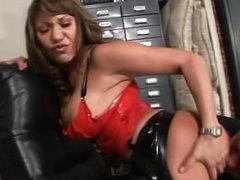 Ava Devine latex lingerie porn