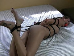 Hailey Young BDSM video with rope..