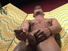 Big gay cock masturbated in hot video