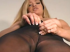Erotic jerk off instruction with nylon..