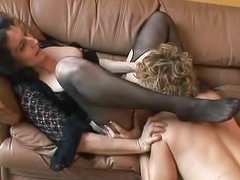 Mature chicks in nylon lesbian sex
