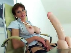 Big nipples of a horny milf stick up