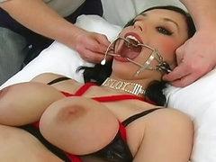 Glamorous beauty in sexy rope bondage