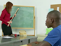 A teacher seduces her black student..