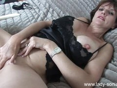 Camisole and panties milf solo