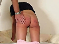 Her ass bruises from the caning