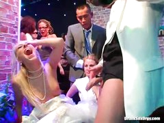 Bridal party at the club for an orgy