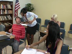 Lustful milf teacher makes her student..