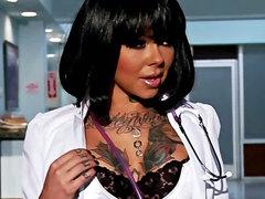 Johnny Sins nails tattooed nurse Julia..