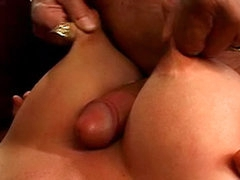 Nipple pinching titjob and pierced..
