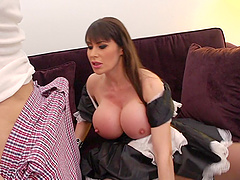 Brunette Hottie In A Maid Uniform Gets..