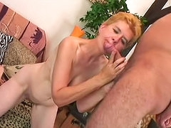 Nude Jaja is masterfully swallowing huge phallus