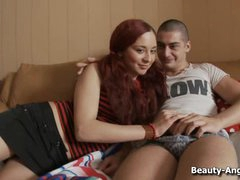 Redheaded Russian loves a big dick