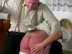 Colonial girl spanked over the knees
