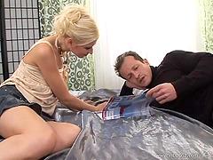Anastasia Devine gets an anal creampie..