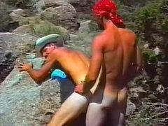 Gay cowboy ass fucked outdoors