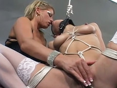 Sensual bondage with cute young ladies