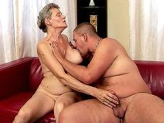 Grandma laid by stiff dick she sucked