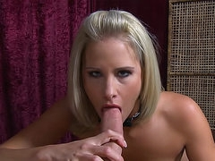 Pretty blonde with pierced tongue..