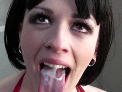 Hardcore babe with piercing Larkin..
