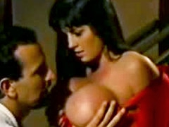 Vintage busty pornstar gets..