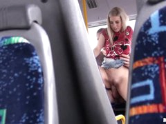 Amateur sex on a bus