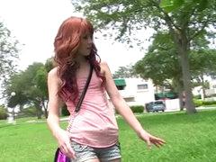 Redhead Elle Alexandra masturbates..