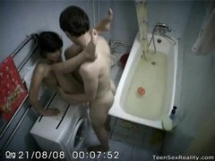 Voyeur teen slammed in bathroom