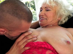 He nails hairy granny pussy