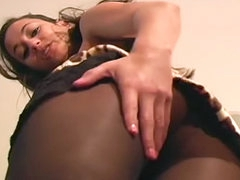 Georgia Jones erotic pantyhose tease