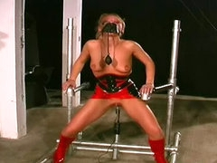 Latex and hot bondage with slut