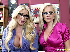 Busty blondes Alena Croft and Summer..