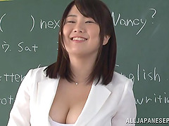 Busty Asian teacher Homare Momono..