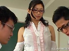 Horny Japanese College Teacher..