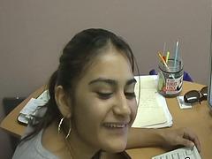 Vivacious Young Brunette Enjoying A..