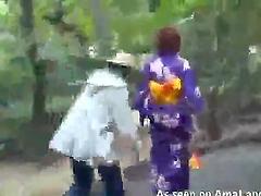 Japanese ladies get their skirts..