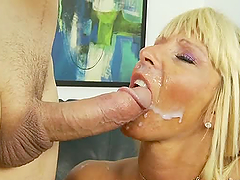 Busty blonde milf Kasey Storm gets..