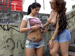 Hung Shemale Gets Her Delicious Cock Sucked By A Sexy Girl