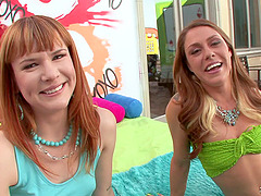 Claire and Scarlett show their gaping..