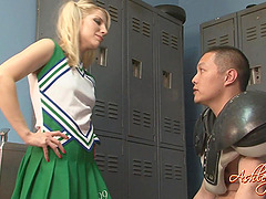 Hot Cheerleader with a Foot Fetish..