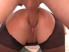 Ripped pantyhose hardcore with big cock