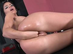 Black Angelika does some fisting