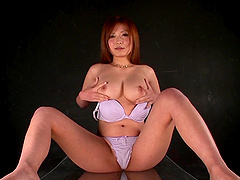 Busty Asian Haruki Satou pees and..