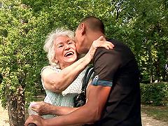 Granny Gets A Facial Cumshot After..
